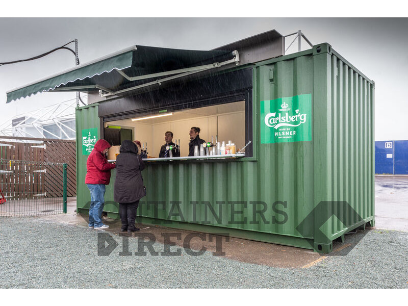 Shipping Container Conversions 20ft pop up bar click to zoom image