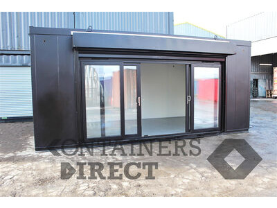 Shipping Container Conversions 12ft wide pop-up shop with roller shutter