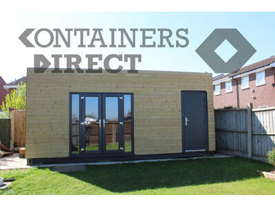 Shipping Container Conversions 20ft cladded garden room