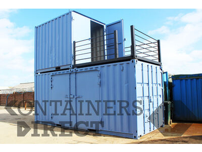 Shipping Container Conversions 20ft + 10ft stacked container testing facility