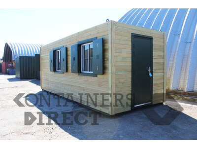Shipping Container Conversions 20ft cladded gatehouse and visitor centre