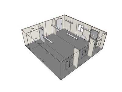 Shipping Container Conversions 24ft x 24ft StudyBox classroom click to zoom image