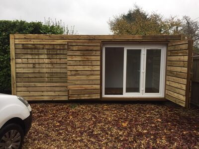 Shipping Container Conversions 20ft cladded garden office