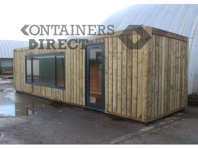 Shipping Container Conversions 30ft cladded classroom
