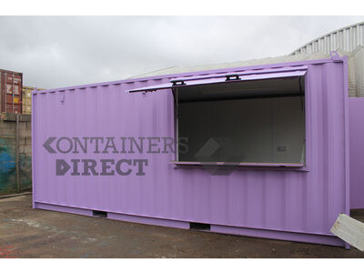 Shipping Container Conversions 20ft shutter hatch MenuBox