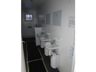 TOILET CABINS 16ft toilet cabin CTX16E click to zoom image