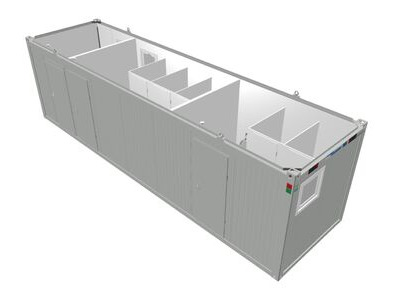 TOILET CABINS 30ft toilet cabin CTX30 with accessible cubicle