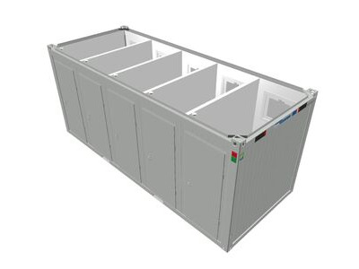 TOILET CABINS 20ft toilet cabin with 5 cubicles CTX205
