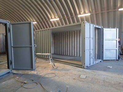 CONTAINER CONVERSION CASE STUDIES 2 x 18ft side joined