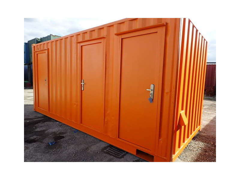 Shipping Container Conversions 18ft ply lined office and store click to zoom image