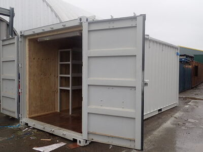CONTAINER CONVERSION CASE STUDIES 20ft Sliding roof CS23516 click to zoom image