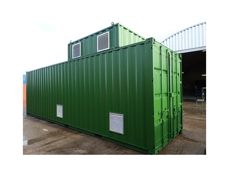 Shipping Container Conversions 30ft boiler house click to zoom image