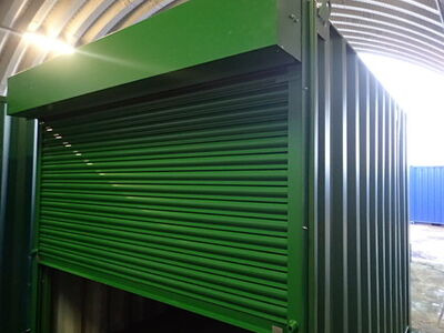 CONTAINER CONVERSION CASE STUDIES 10ft roller shutter door