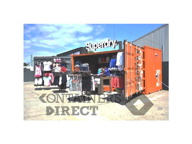 CONTAINER CONVERSION CASE STUDIES 20ft full side access pop up shop click to zoom image