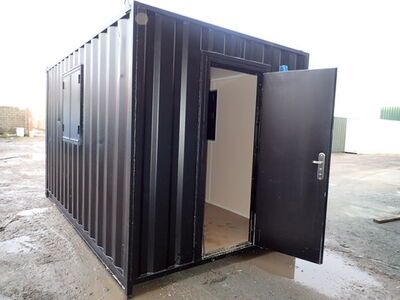 Shipping Container Conversions 14ft with personnel door and windows - melamine lined