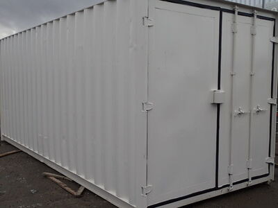 CONTAINER CONVERSION CASE STUDIES 20ft S3 doors, ply lined, electrics and shelving