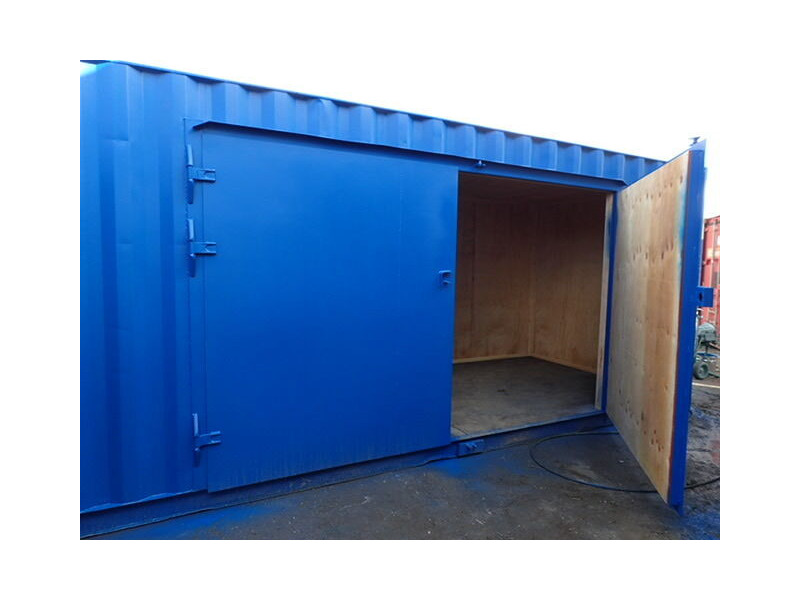 CONTAINER CONVERSION CASE STUDIES 20ft extra wide side doors and ramp click to zoom image