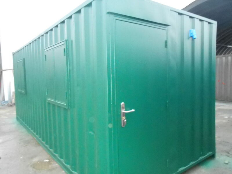 CONTAINER CONVERSION CASE STUDIES 21ft staff canteen CSPIG click to zoom image