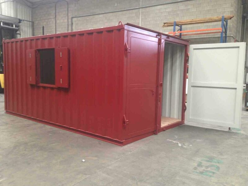 Shipping Container Conversions 17ft x 10ft x 8ft 6in with window click to zoom image