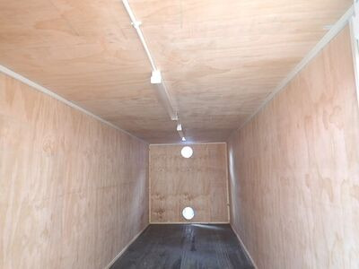 CONTAINER CONVERSION CASE STUDIES 25ft ply lined with electrics