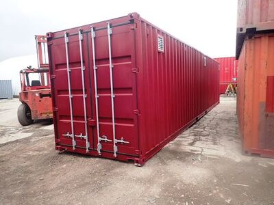 "Shipping Container Conversions 40ft high cube with ""lid"""