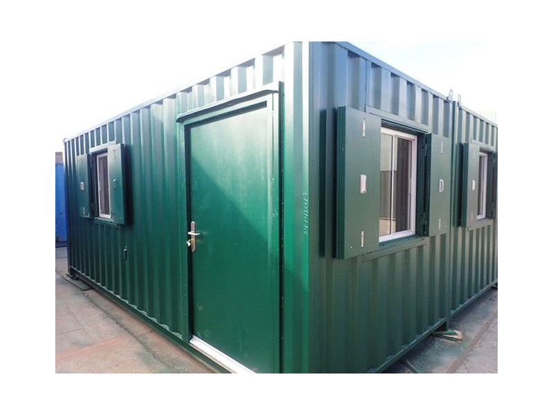 CONTAINER CONVERSION CASE STUDIES 2 x 20ft side joined clubhouse click to zoom image