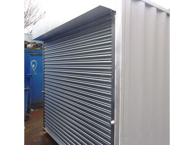 CONTAINER CONVERSION CASE STUDIES 16ft store with roller shutter