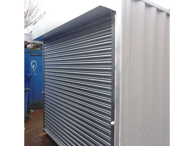 CONTAINER CONVERSION CASE STUDIES 16ft store with roller shutter CS35068 click to zoom image