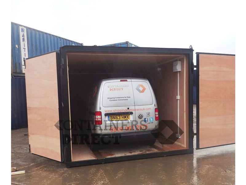 CONTAINER CONVERSION CASE STUDIES Garage unit 15ft x 10ft CS34148 click to zoom image