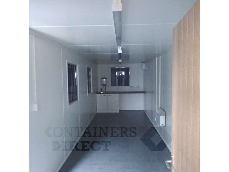 CONTAINER CONVERSION CASE STUDIES 32ft canteen and drying room click to zoom image