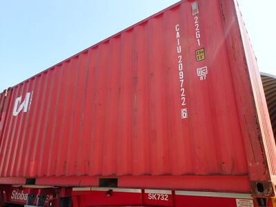 SHIPPING CONTAINERS 20ft ISO red CAIU2097226