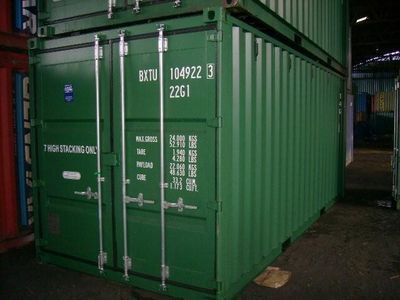 SHIPPING CONTAINERS 20ft ISO green 19184
