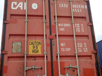 SHIPPING CONTAINERS 40ft high cube brown CAXU9624700