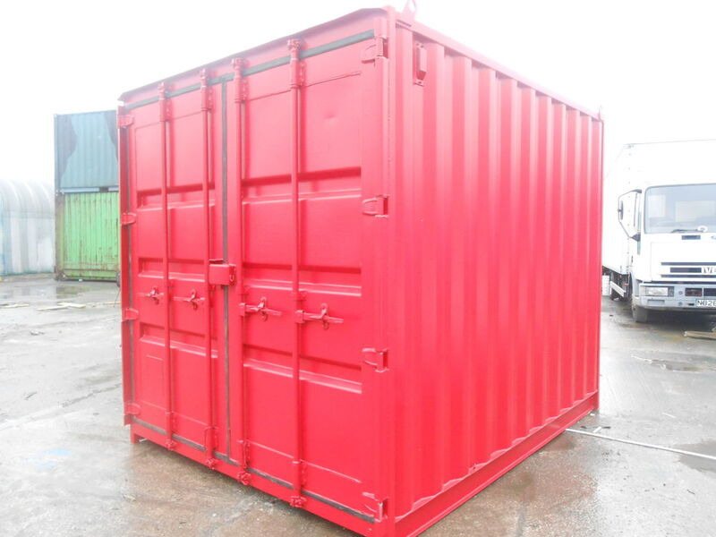 SHIPPING CONTAINERS 10ft high cube original doors 64028 click to zoom image