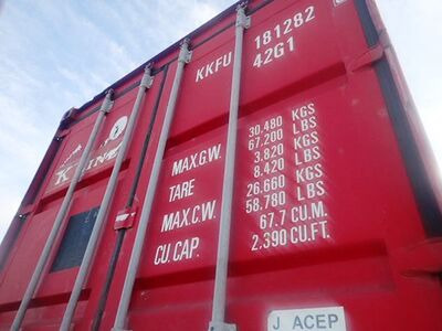 SHIPPING CONTAINERS 40ft ISO 62875