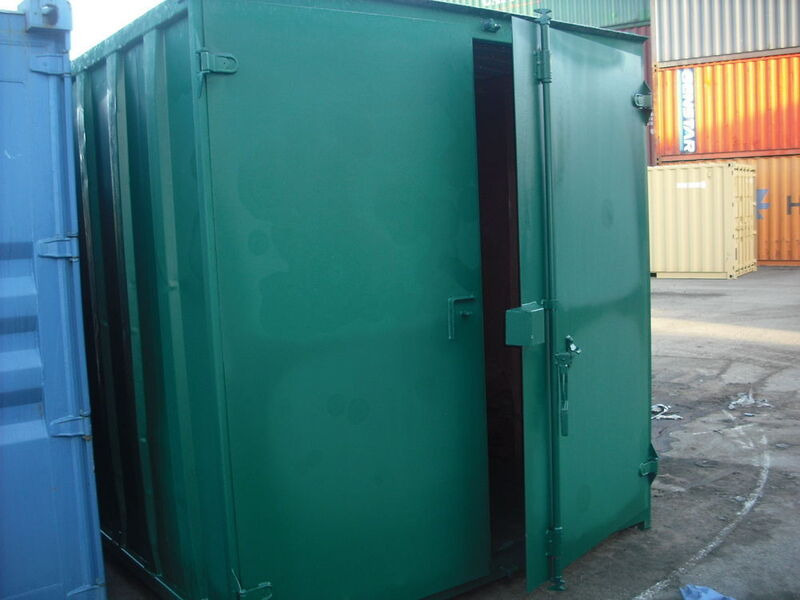 SHIPPING CONTAINERS 10ft S1 doors 21791 click to zoom image