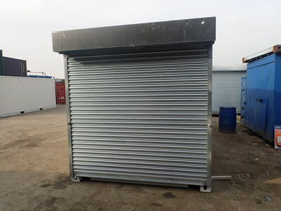 SHIPPING CONTAINERS 10ft roller shutter door and electrics 22541