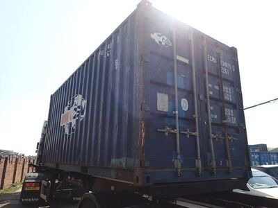 SHIPPING CONTAINERS 20ft ISO blue ECMU1348153 click to zoom image
