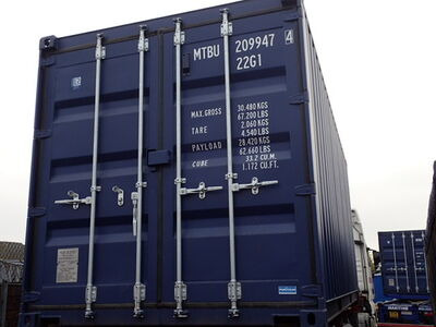 SHIPPING CONTAINERS 20ft ISO blue MTBU2099474