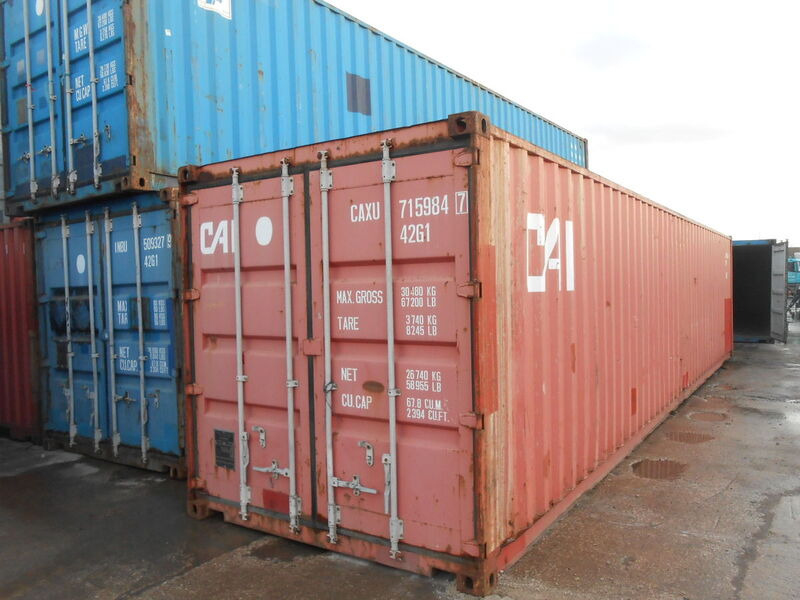 SHIPPING CONTAINERS 40ft original container 45494 click to zoom image