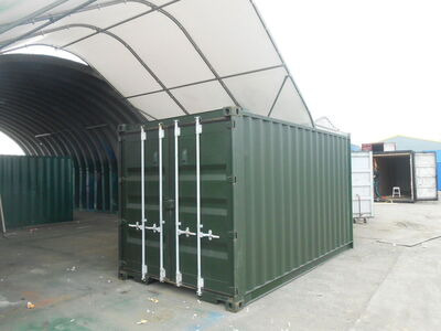 SHIPPING CONTAINERS 15ft original doors green CO150002
