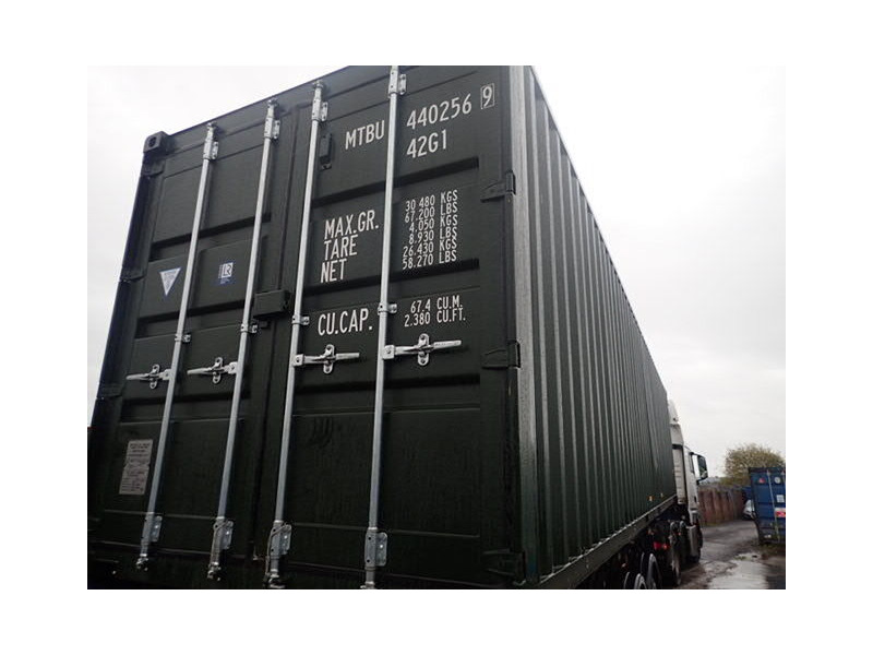 SHIPPING CONTAINERS 40ft ISO green MTBU4402569 click to zoom image