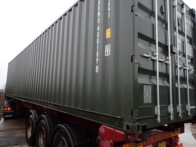SHIPPING CONTAINERS 40ft ISO green ARMU4001898 click to zoom image