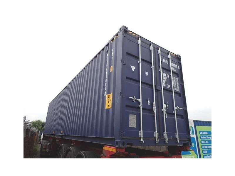 SHIPPING CONTAINERS 40ft ISO blue MTBU0410606 click to zoom image