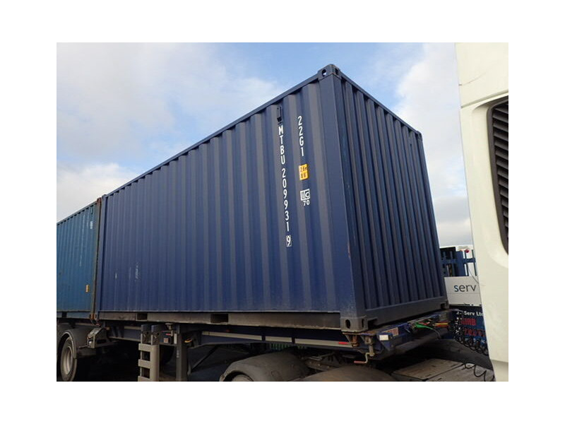 SHIPPING CONTAINERS 20ft ISO blue MTBU2099319 click to zoom image