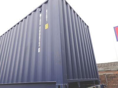 SHIPPING CONTAINERS 40ft ISO blue MTBU4008236 click to zoom image