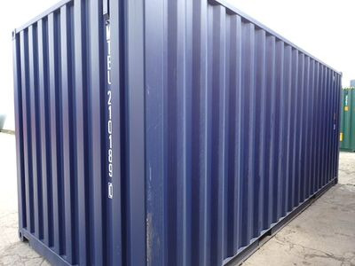 SHIPPING CONTAINERS 20ft ISO blue MTBU2101890 click to zoom image