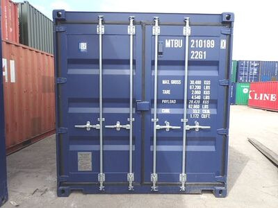 SHIPPING CONTAINERS 20ft ISO blue MTBU2101890