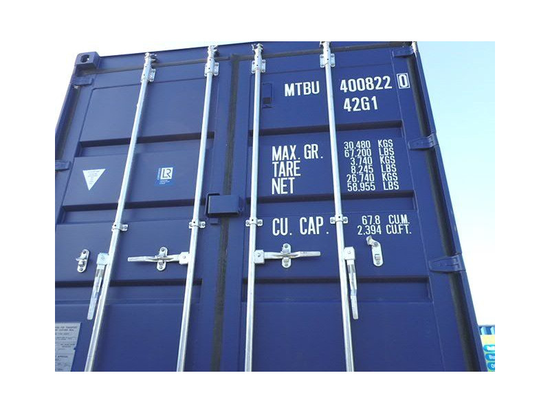 SHIPPING CONTAINERS 40ft ISO blue MTBU4008220 click to zoom image