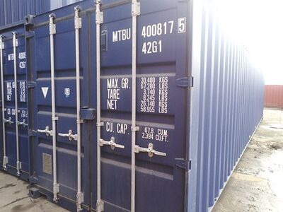 SHIPPING CONTAINERS 40ft ISO blue MTBU4008175